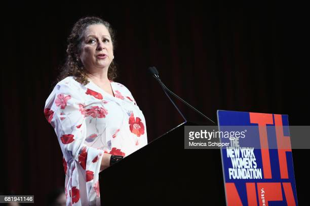 Filmmaker Abigail Disney speaks onstage during the 30th Anniversary Celebrating Women Breakfast at Marriott Marquis Hotel on May 11 2017 in New York...