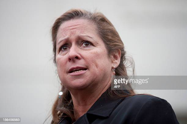 Filmmaker Abigail Disney speaks to reporters at the White House with a group of millionaires in favor of raising taxes on the wealthy after meetings...
