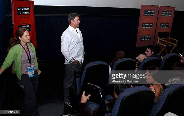 Filmmaker advisor Kate Roughan and DOP Shane Hurlbut speak during 'Canon: Confessions of a Shoot' during the 2010 Los Angeles Film Festival at Regal...
