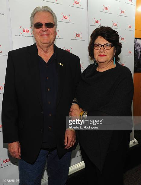 Filmmaker Alan Raymond and filmmaker Susan Raymond arrive at the International Documentary Association's 26th annual awards ceremony at the Directors...