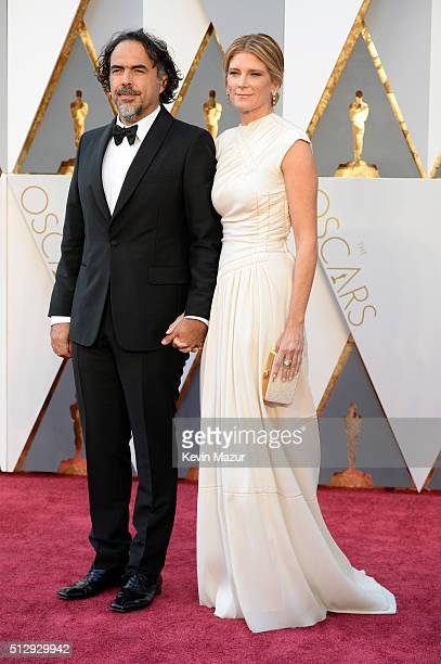 Filmmaker Alejandro Gonzalez Inarritu and Maria Eladia Hagerman attend the 88th Annual Academy Awards at Hollywood Highland Center on February 28...