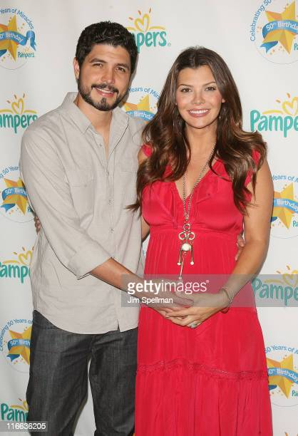 Filmmaker Alejandro Monteverde and actress Ali Landry attend the Pampers 50th birthday celebration at SIR Stage 37 on June 16 2011 in New York City