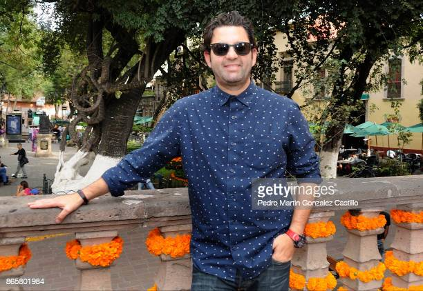 Filmmaker Alejandro Sugich poses prior to the presentation of his film Helena as part of XV Morelia International Film Festival on October 23 2017 in...