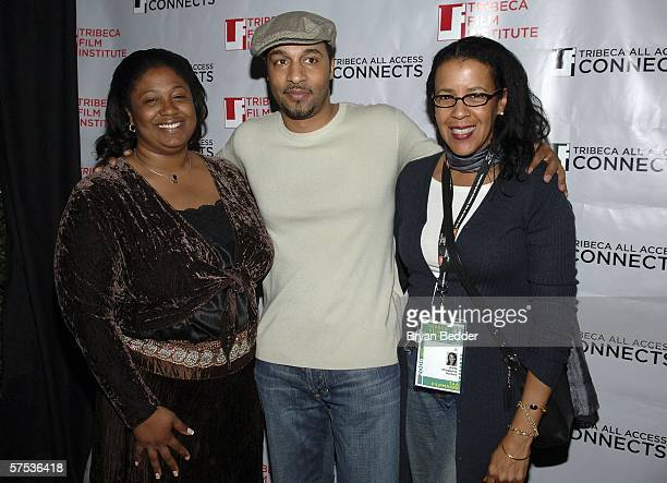Filmmaker Aleta Chappelle and guest attends the TAA Closing Night Party during the 5th Annual Tribeca Film Festival May 4, 2006 in New York City.