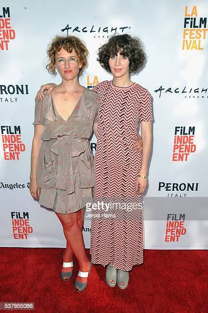 Filmmaker Amber Sealey and producer Miranda July attend the premieres of 'No Light and No Land Anywhere' and SBF 'Sea Calls Me Home Julia Holter'...