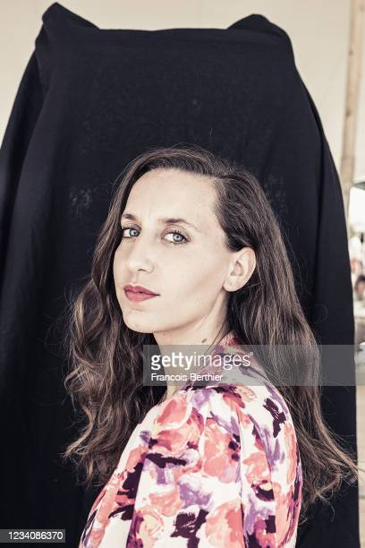 Filmmaker Anais Volpe poses for a portrait during the 74th Cannes International Film Festival, on July 15, 2021 in Cannes, France.