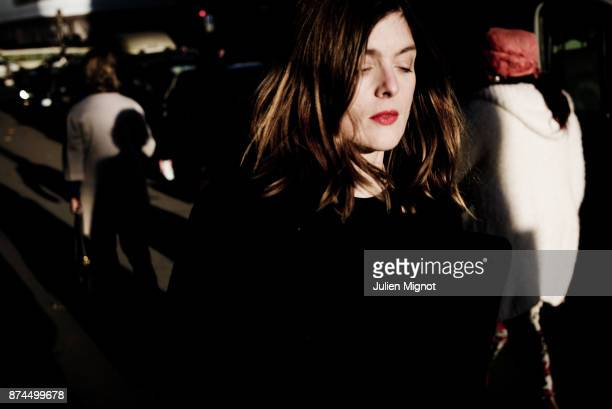 Filmmaker and actress Valerie Donzelli is photographed for Grazia Magazine on October 2015 in Paris France