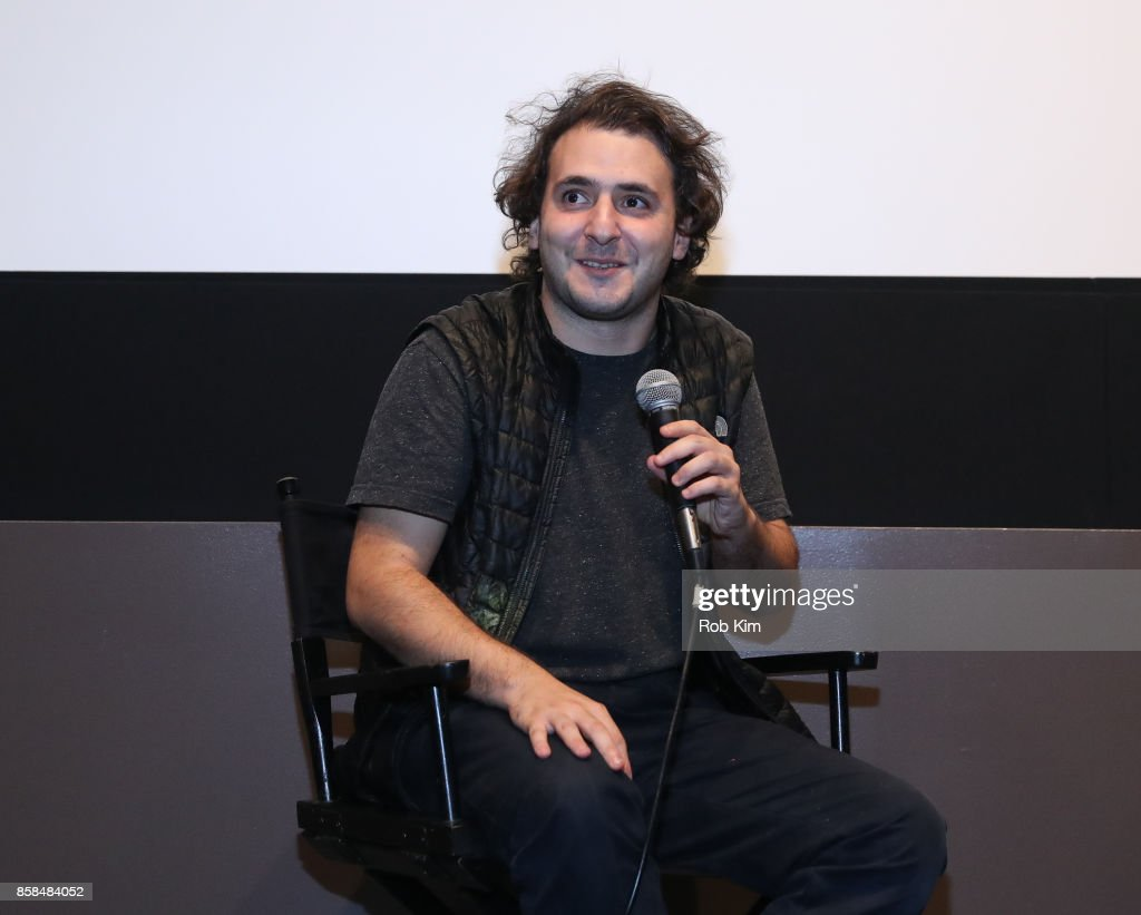 Filmmaker and artist Neil Beloufa discusses film at a Q&A for the screening of 'Occidental' during the 55th New York Film Festival at Elinor Bunin Munroe Film Center on October 6, 2017 in New York City.
