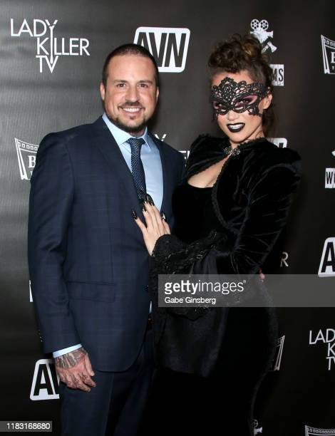 Filmmaker and former Five Finger Death Punch drummer Jeremy Spencer and adult film actress Tori Black attend the world premiere of the film...