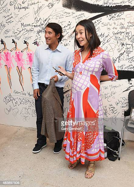"Filmmaker and mountaineer Jimmy Chin and filmmaker E. Chai Vasarhelyi attend AOL Build Presents: ""MERU""at AOL Studios In New York on August 13, 2015..."