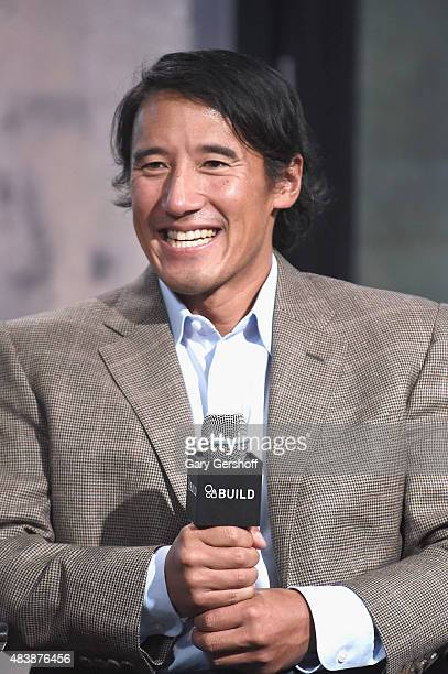 "Filmmaker and mountaineer Jimmy Chin attends AOL Build Presents: ""MERU""at AOL Studios In New York on August 13, 2015 in New York City."