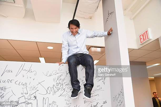 Filmmaker and mountaineer Jimmy Chin attends at AOL Studios In New York on August 13, 2015 in New York City.