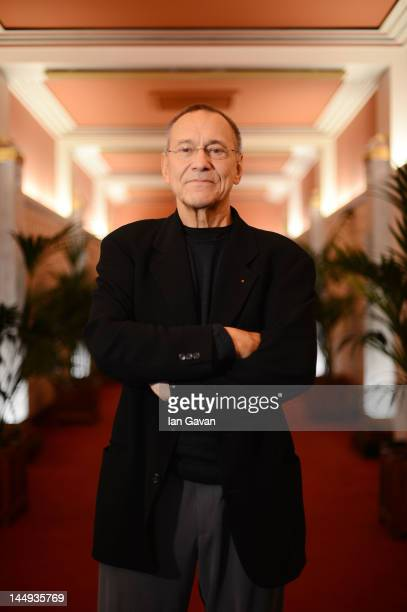 Filmmaker Andrei Konchalovsky poses for a portrait during the 65th Annual Cannes Film Festival on May 21 2012 in Cannes France