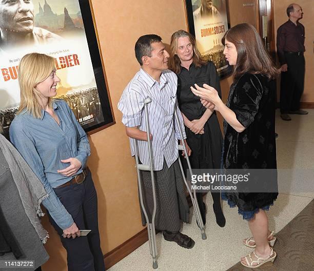 Filmmaker Annie Sundberg film subject Myo Myint producer Julie LeBrocquy and SVP of HBO Documentary Films Nancy Abraham attend the HBO Documentary...