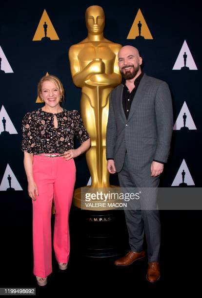Filmmaker Arianne Sutner and Chris Butler nominees for How to TrainYour Dragon The Hidden World attends the Oscar Week Events Animated Features at...