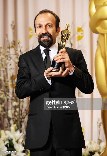 Filmmaker Asghar Farhadi winner of the Best Foreign Film Award for 'A Separation' poses in the press room at the 84th Annual Academy Awards held at...