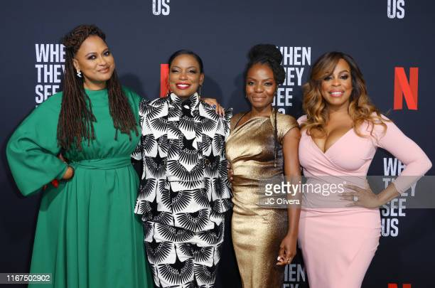 Filmmaker Ava DuVernay and actors Aunjanue Ellis, Marsha Stephanie Blake and Niecy Nash attend FYC Event For Netflix's 'When They See Us' at...