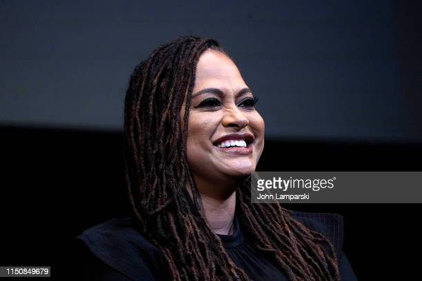 Filmmaker Ava Duvernay is interviewed during the Film at Lincoln Center screening of When They See Us at Walter Reade Theater on May 21 2019 in New...