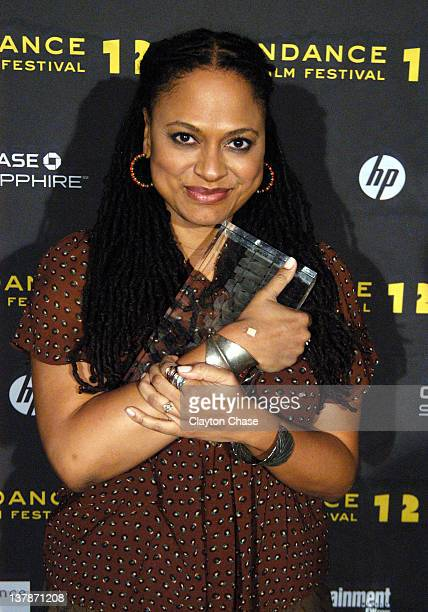 Filmmaker Ava DuVernay poses with the Directing Award Dramatic for Middle Of Nowhere at the Awards Night Ceremony during the 2012 Sundance Film...