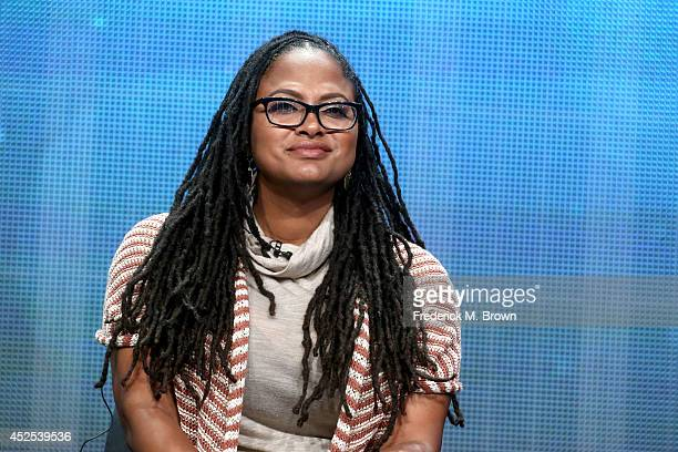 Filmmaker Ava DuVernay speaks onstage during the Makers Women in Hollywood and Women in Politics panel at the PBS Networks portion of the 2014 Summer...