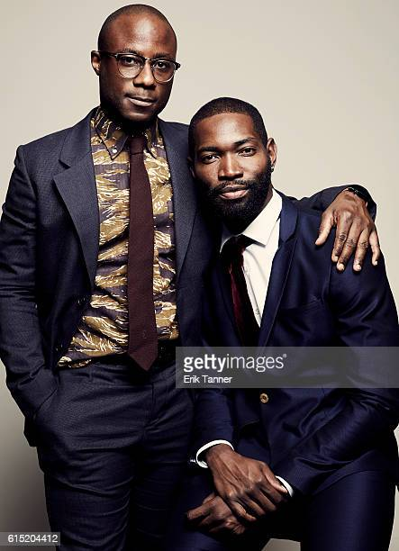 Filmmaker Barry Jenkins and playwright Tarell McCraney pose for a portrait during the 54th New York Film Festival at Lincoln Center on October 2 2016...