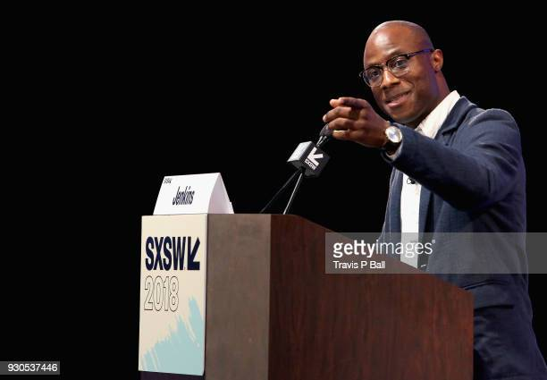 Filmmaker Barry Jenkins speaks onstage at the Film Keynote during SXSW at Austin Convention Center on March 11 2018 in Austin Texas