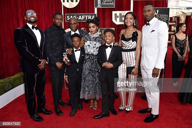 Filmmaker Barry Jenkins with the cast of 'Moonlight' attends The 23rd Annual Screen Actors Guild Awards at The Shrine Auditorium on January 29 2017...