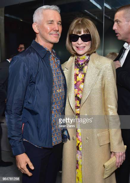 Filmmaker Baz Luhrmann and Vogue Magazine EditorInChief Anna Wintour attend the Prada Resort 2019 fashion show on May 4 2018 in New York City