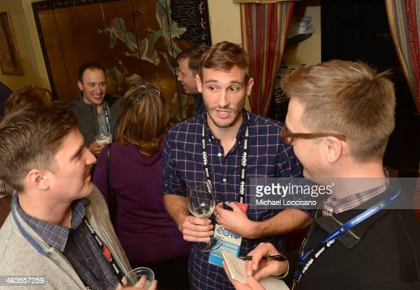 Filmmaker Ben Cotner Ryan White and Marc Malkin attends the HBO HRC Wedding Reception For The Case Against 8 on January 18 2014 in Park City Utah