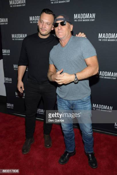 4bd1c1a4710 Filmmaker Ben Patterson and designer Steve Madden attend the  Maddman The Steve  Madden Story