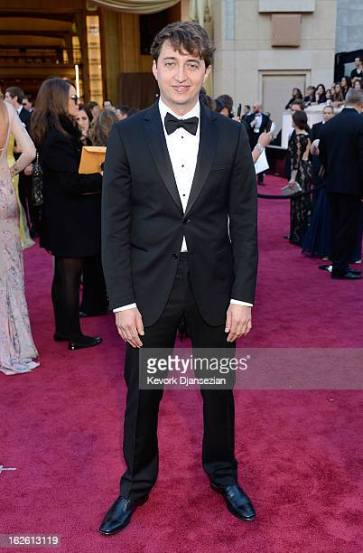 Filmmaker Benh Zeitlin arrives at the Oscars at Hollywood Highland Center on February 24 2013 in Hollywood California