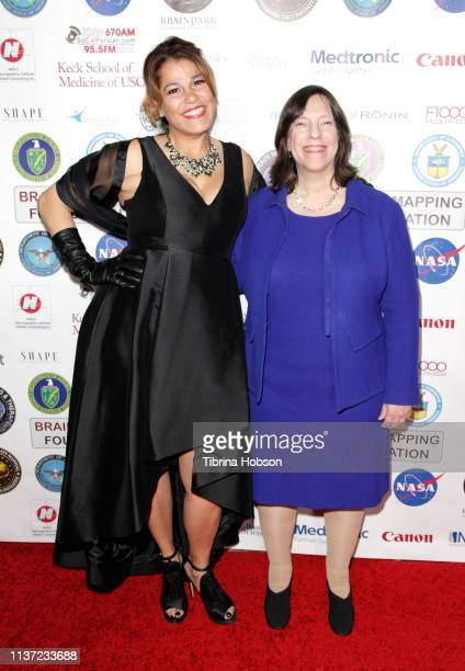 Filmmaker Billie Feldman and Author Deborah Zelinsky attend the 16th annual 'Gathering for Cure' black tie awards gala of Brain Mapping Foundation on...