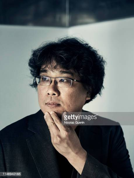Filmmaker Bong Joonho poses for a portrait on May 2019 in Cannes France