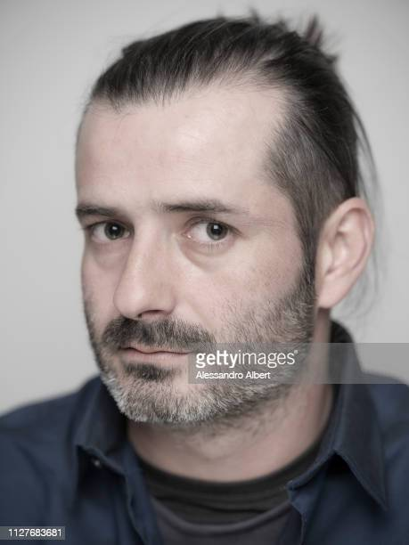 Filmmaker Bonifacio Angius poses for a portrait Turin Film Festival on November 2018 in Turin Italy