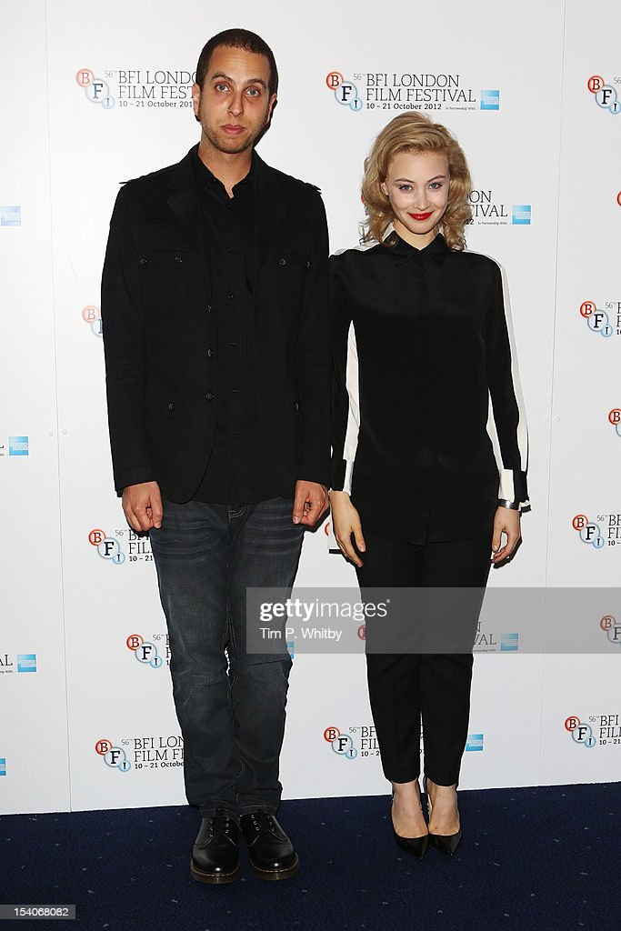 Filmmaker Brandon Cronenberg and actress Sarah Gadon attend the premiere of 'Antiviral' during the 56th BFI London Film Festival at Odeon West End on October 13, 2012 in London, England.