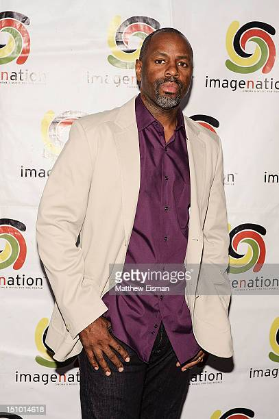 """Filmmaker Byron Hurt attends the """"Soul Food Junkies"""" New York Premiere with performance by Dead Prez at The Film Society of Lincoln Center, Walter..."""