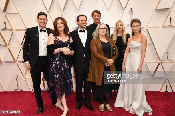 US filmmaker Carol Dysinger and Filmmaker Elena Andreicheva with cast and crew of Learning to Skateboard in a Warzone arrives for the 92nd Oscars at...