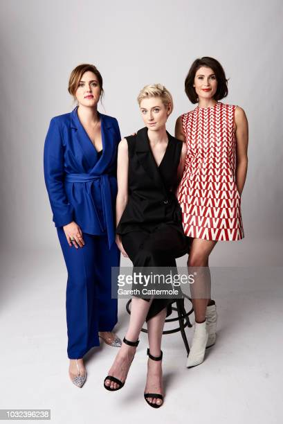 Filmmaker Chanya Button and actors Elizabeth Debicki and Gemma Arterton from the film 'Vita Virginia' pose for a portrait during the 2018 Toronto...