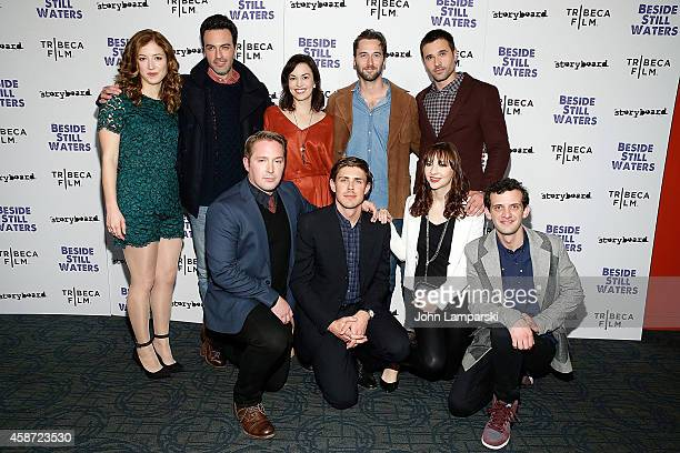 Filmmaker Chris Lowell and actors Erin Darke Jessy Hodges Britt Lower Beck Bennett Reid Scott Ryan Eggold Brett Dalton and Will Brill attendsBesides...