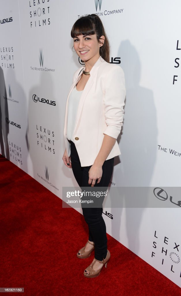 Filmmaker Christina Molino attends Lexus Short Film Series 'Life Is Amazing' presented by The Weinstein Company and Lexus at DGA Theater on February 21, 2013 in Los Angeles, California.