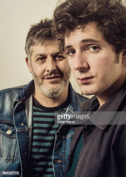 Filmmaker Christophe Honoré and actor Vincent Lacoste are photographed for Grazia Daily on April 2018 in Cannes France