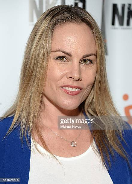 Filmmaker Christy Oldham enjoys the 'More Than a Cone' art auction and campaign launch benefiting Best Friends Animal Society in Los Angeles where...