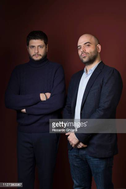 Filmmaker Claudio Giovannesi and writer Roberto Saviano pose for a portrait during the 69th Berlinale International Film Festival on February 13 2019...