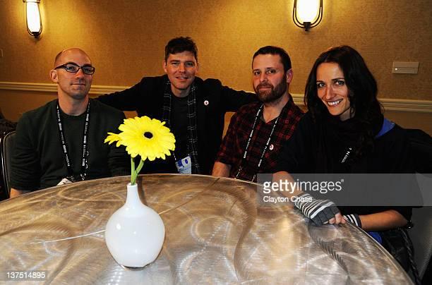 Filmmaker Clay McLeod Chapman actor Craig Macneill filmmaker Noah Greenburg and actress Ana Asensio attend the Short Filmmakers Meet Greet With...