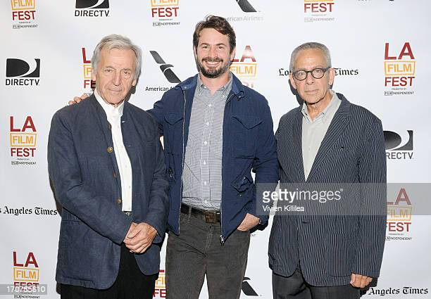 Filmmaker CostasGavras moderator Mark Boal and LAFF artistic director David Ansen attend An Evening With CostasGavras during the 2013 Los Angeles...