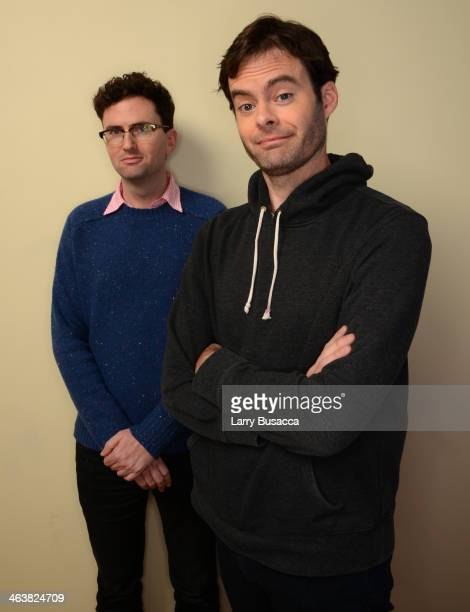 Filmmaker Craig Johnson and actor Bill Hader pose for a portrait during the 2014 Sundance Film Festival at the Getty Images Portrait Studio at the...
