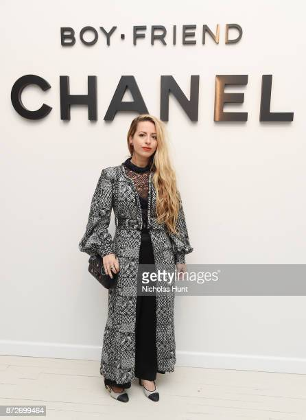 Filmmaker Crystal Moselle wearing CHANEL attends as CHANEL celebrates the launch of the Coco Club a BoyFriend Watch event at The Wing Soho on...