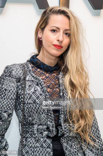 Filmmaker Crystal Moselle wearing CHANEL attends the CHANEL celebration of the launch of The Coco Club at The Wing Soho on November 10 2017 in New...