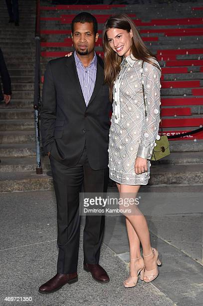 Filmmaker Damani Baker and model Cameron Russell attend the Vanity Fair Party during the 2015 Tribeca Film Festival at the New York State Supreme...