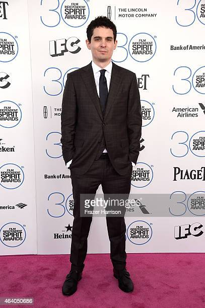 Filmmaker Damien Chazelle attends the 2015 Film Independent Spirit Awards at Santa Monica Beach on February 21 2015 in Santa Monica California